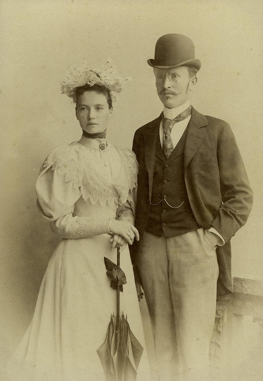 Mag.pharm. Franz Luft, der Gründer der Elisabeth-Apotheke, und seine Frau Elisabeth, geborene Fellner