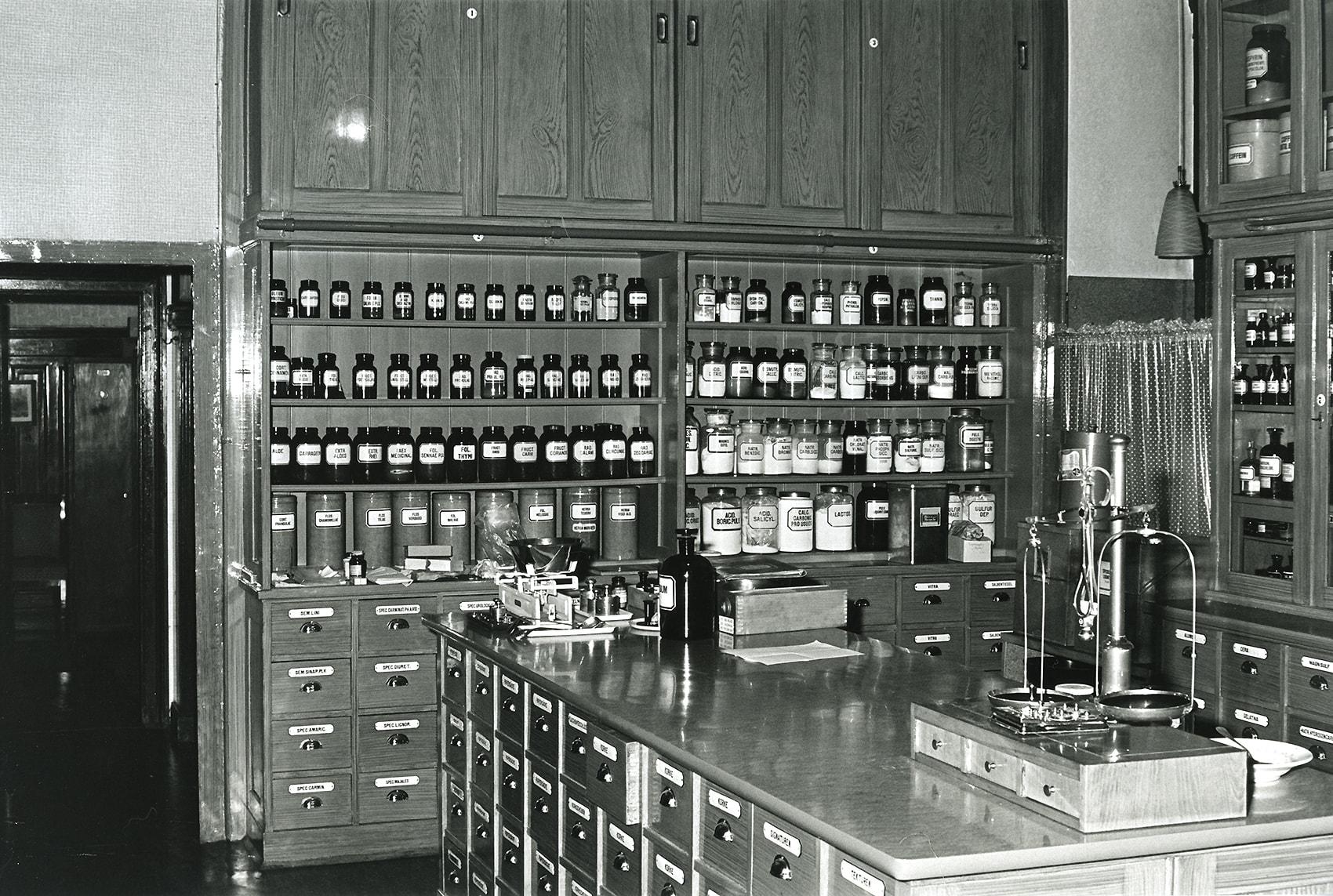 Lagerraum in den 1950er Jahren