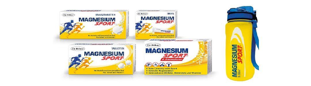 Dr. Böhm Magnesium Sport + gratis Trinkflasche